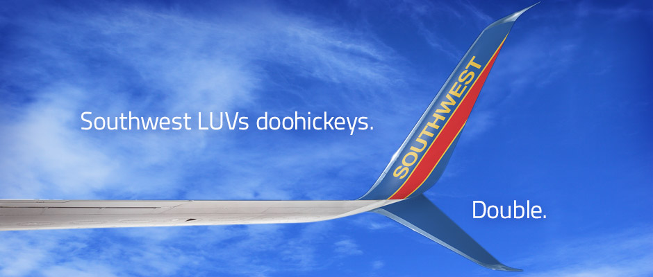 Southwest LUVs doohickeys. Double.
