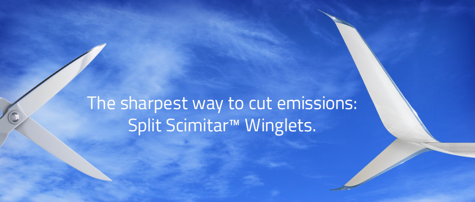 The sharpest way to cut emissions: Split Scimitar Winglets